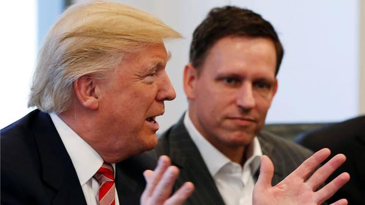 Auslotung der neuen Macht: Peter Thiel zu Gast im Trump Tower.