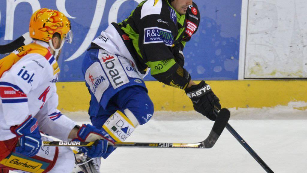 Der Davoser Andres Ambühl schoss zwei der drei HCD-Tore gegen die Kloten Flyers