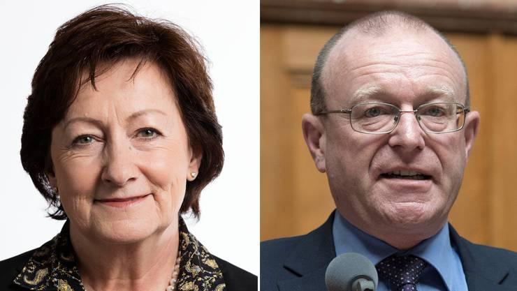 Sylvia Flückiger und Jean-Luc Addor.
