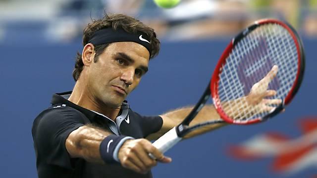 Konzentriert an der Arbeit: Roger Federer