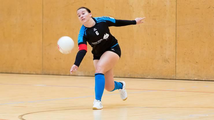Die Oberentfelderinnen wollen mit ihrem Captain Sabrina Siegenthaler den Aufstieg in die Nationalliga B schaffen.