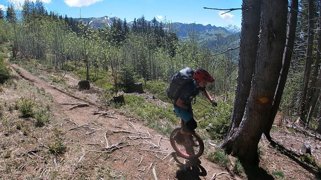 Bergtour der anderen Art: Mit dem Einrad über die Via Alpina