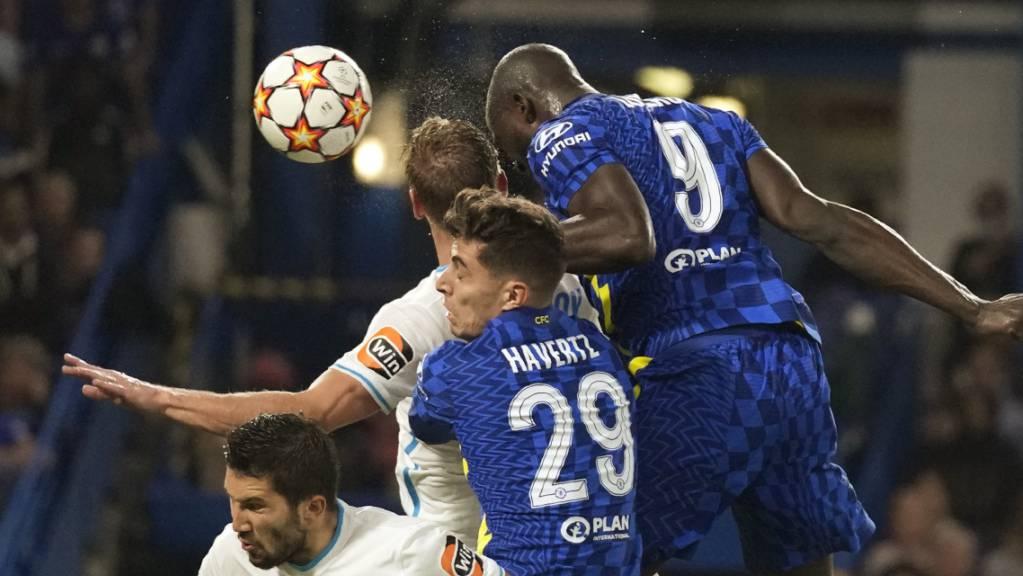 Der Neue steigt am höchsten: Romelu Lukaku köpfelt Chelsea zum Sieg gegen Zenit St.Petersburg.