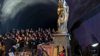 Am Tag der Schutzpatronin der Mineure erklingen im Gotthard-Basistunnel Werke, die für die heilige Barbara (im Bild rechts) komponiert worden sind.