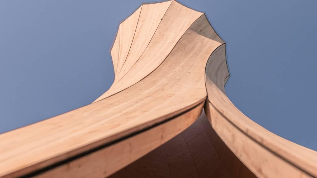 Selbstformendes Holz für schwungvolle Bauten