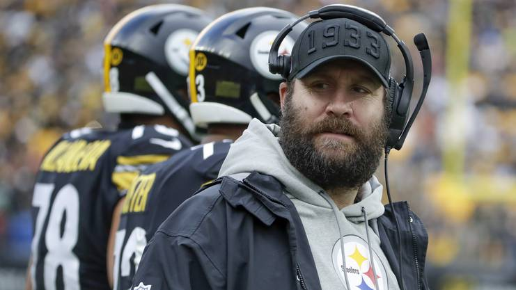 Prominentes Opfer: Ben Roethlisberger von den Pittsburgh Steelers musste ab der dritten Woche alle Spiele von der Seitenlinie zuschauen – eine Ellbogenverletzung sorgte für das vorzeitige Saisonaus.