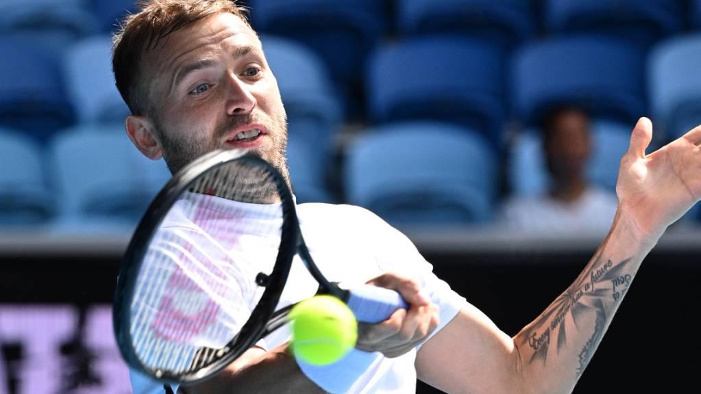 Daniel Evans ist wie schon 2017 der Comeback-Gegner von Federer