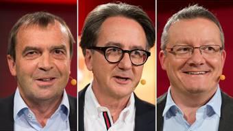 Die drei Stadtratskandidaten Jürg Caflisch (SP), Erich Obrist (parteilos) und Mario Delvecchio (FDP).