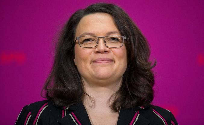 Neue Chefin des Arbeits- und Sozialministeriums: Andrea Nahles (SPD).