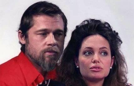 Das Schauspielerpaar Brad Pitt und Angelina Jolie, bekannt als Brangelina