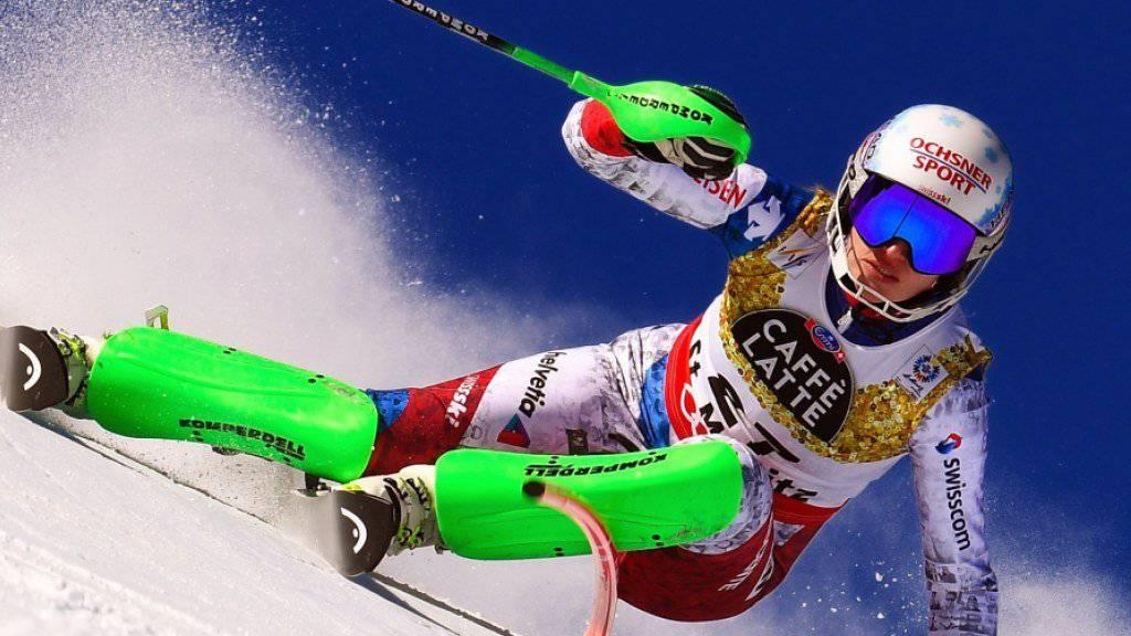 Denise Feierabend, hier an der WM in St. Moritz im Einsatz, verletzte sich in Crans-Montana