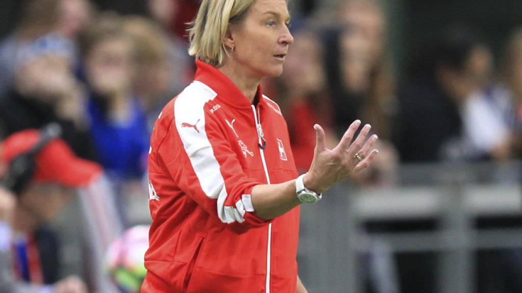 Nationaltrainerin Martina Voss-Tecklenburg kann mit der Schweiz an der EM viel Geld verdienen