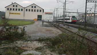 Verbindungsspange Buchs Nord: Die geplante Strasse soll auch den Verkehr zum Fussballstadion fassen.