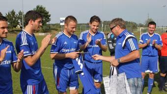 Applaus für den FC Subingen nach dem Punktegewinn gegen den NK Pajde.