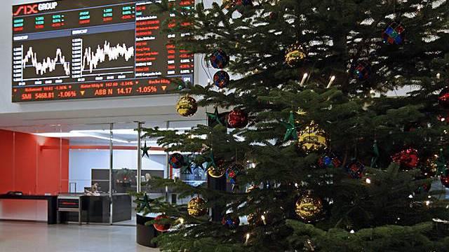 Auch an der Börse sieht es weihnachtlich aus