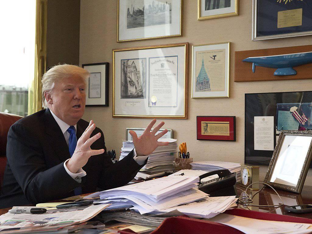 Will nicht an der Legalisierung der Homo-Ehe rütteln: US-Präsident Donald Trump. (Archivbild)