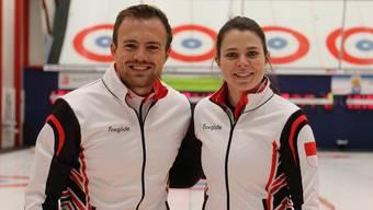 Lisa Gisler (r.) und Romano Meier überzeugen im Namen von Baden Regio am international stark besetzten Mixed-Turnier in Bern als Dritte.