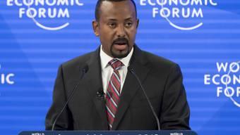 Äthiopiens Regierungschef Abiy Ahmed spricht am Mittwoch am WEF in Davos.