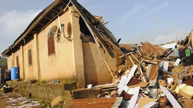 Eine zerstörte Kirche in Jos (Archiv)