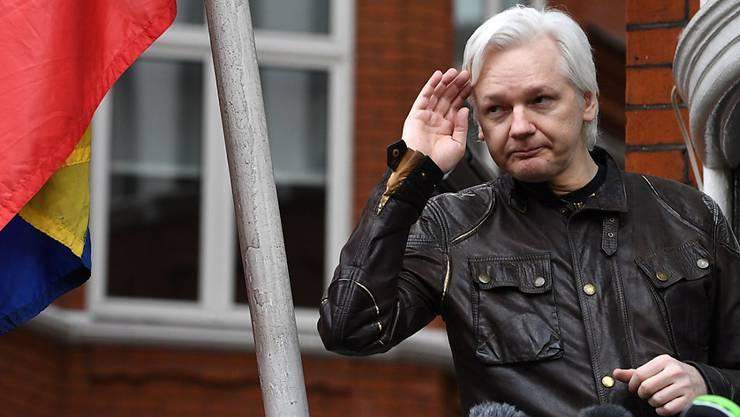 Wikileaks-Gründer Julian Assange hält sich seit fast sechs Jahren in der ecuadorianischen Botschaft in London auf. (Archiv)