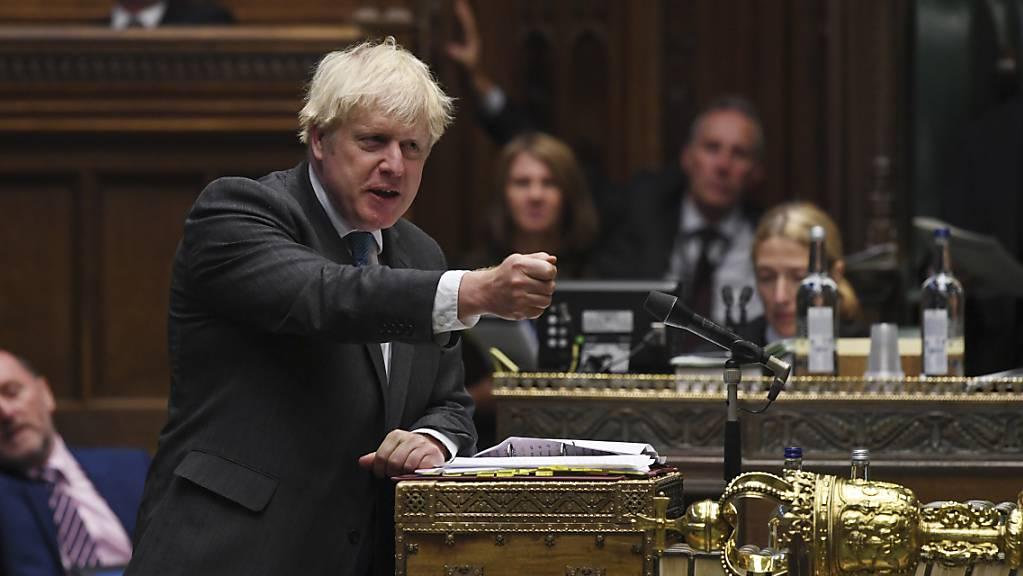 Boris Johnson, Premierminister von Grossbritannien, spricht im britischen Unterhaus.