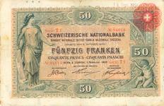 1907: Die Helvetia links auf der Note.