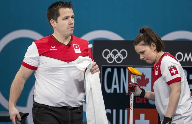 Martion Rios und Jenny Perret an den Olympischen Winterspielen in Südkorea.