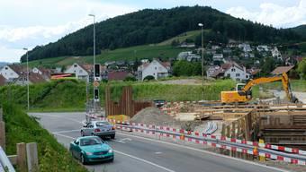 Beim Gubrist: Die Kreuzung von Zürcher- und Umfahrungsstrasse in Weiningen.