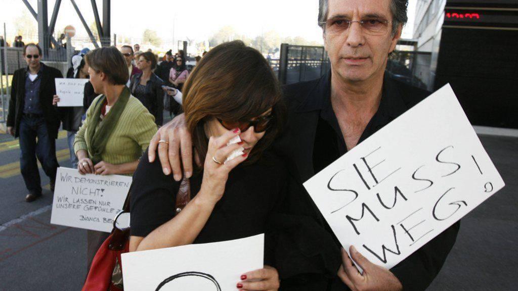 """2006 (Bild) trauerten Hans Schenker und Isabelle von Siebenthal um das Ende von """"Lüthi & Blanc"""", heute müssen sie sich von ihrem Restaurant verabschieden (Archiv)."""