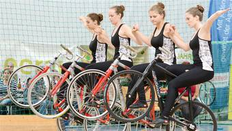 Die zweitplatzierten Kunstradfahrerinnen aus Baar zeigten, wie attraktiv ihr Sport sein kann.