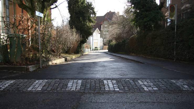 Die Einfahrt zur Lorenzenstrasse