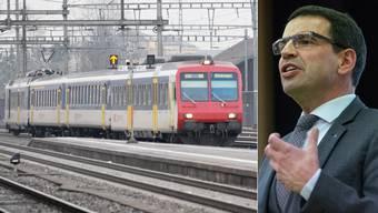Auf die S42 warten die Passagiere am Bahnhof Wohlen derzeit vergeblich. Das ärgert Nationalrat Matthias Jauslin.
