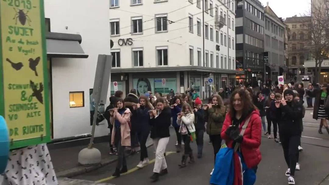 Das Ladäärne-Ypfyffe vor der Basler Fasnacht 2019