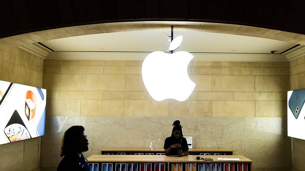 Apple-Verkaufsgeschäft in der Grand Central Station in New York.