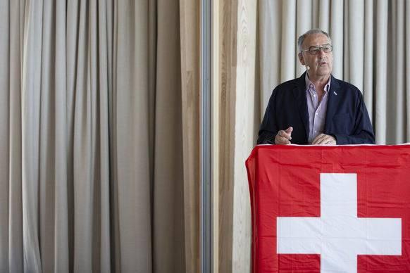 Guy Parmelin während seiner Ansprache auf dem Weissenstein.