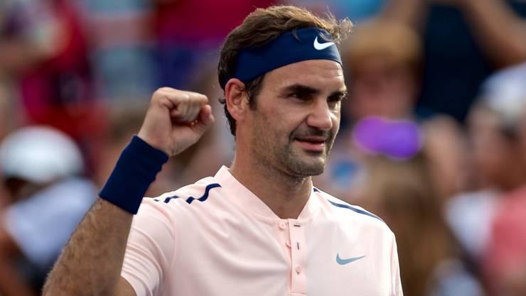 In Montreal nach einer souveränen Leistung im Halbfinal: Roger Federer.