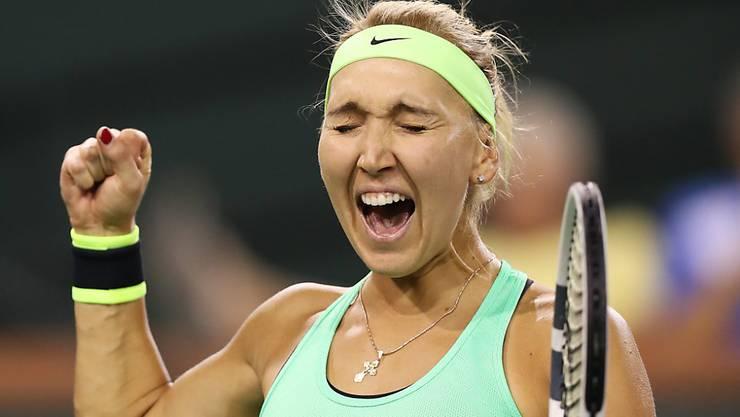 Jelena Wesnina freut sich über ihren Final-Einzug in Indian Wells