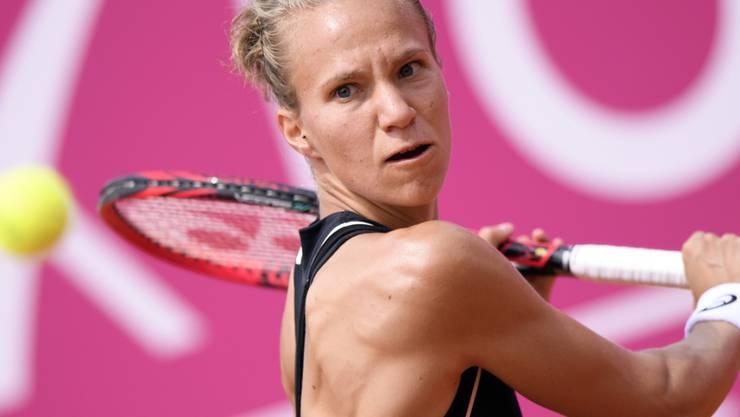 Viktorija Golubic steht am WTA-Turnier in Wuhan in der 2. Runde