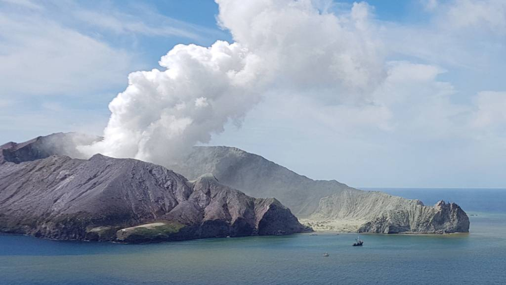 Die Lage auf der neuseeländischen Vulkaninsel White Island ist nach einer Eruption am Montag weiterhin gefährlich. (Archivbild)