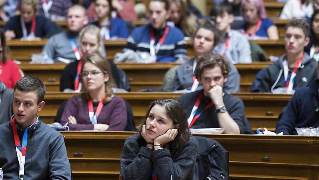 Das Bundeshaus in den Händen der Jugend: Auch dieses Jahr treffen sich 200 Jugendliche, um über aktuelle politische Themen zu diskutieren. (Archivbild)