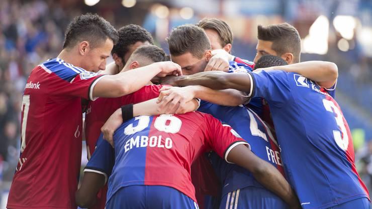 Die Spieler des FCB hatten gegen Zürich einiges zu bejublen.