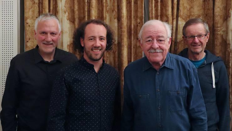Die Nationalrats-Kandidaten 2019 der SP Olten: Peter Gomm, Florian Eberhard, Hubert Jenny und Ruedi Moor.