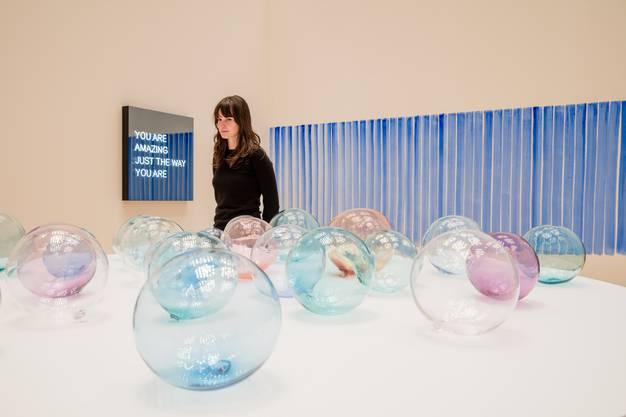 Glaskugeln bewahren den Atem des Künstlers Jeppe Hein