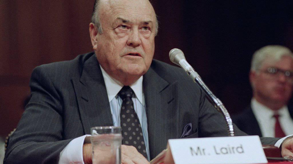 Der verstorbene frühere US-Verteidigungsminister Melvin Laird in einer Aufnahme aus dem Jahr 1992. (Archivbild)
