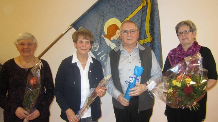 Monique Beer, Vreni Reinhart und  Peter Rudolf von Rohr (30 Jahre),  Pia Rudolf von Rohr (35 Jahre), (v. l. n. r.)