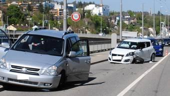 Kleines Tierchen, grosse Wirkung: Eine Spinne löste diesen Unfall in der Stadt Schaffhausen aus.