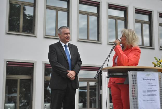 Martina Egger mit Alex Hürzeler