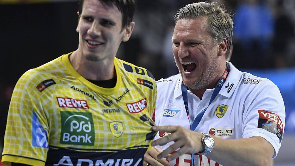 Freude bei Andy Schmid (links): Rhein-Neckar Löwen stehen vor der Titelverteidigung