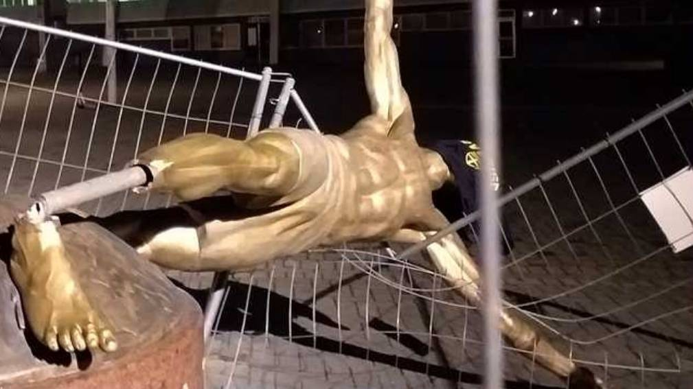 Wieder Vandalismus in Malmö: Ibrahimović-Statue beschädigt