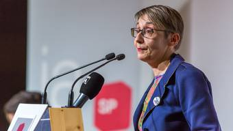 Elisabeth Burgener am SP Parteitag.